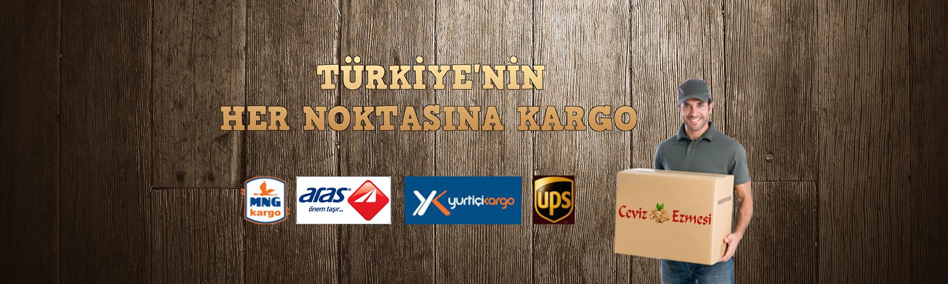 Türkiye'nin her yerine kargo
